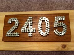 House Address Numbers // wood & nails