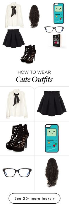 """The cute nerd outfit"" by asialjohnson on Polyvore featuring H&M and CellPowerCases"