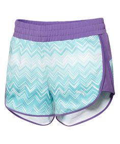 Look at this Deep Lavender Graphic Gym Shorts on #zulily today!