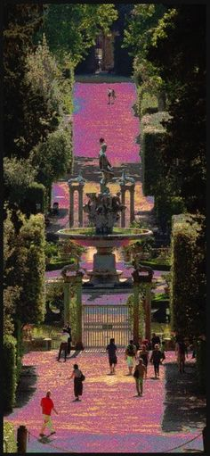 March in Florence, Giardino di Boboli. One of my former favorite places to study