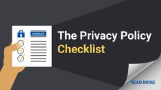 Updating your Privacy Policy or creating your first one? Do these 9 things. Privacy Policy, Read More, Create Yourself, Reading, Reading Books