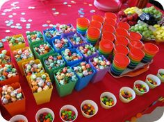 Rainbow party snacks - Click image to find more Kids Pinterest pins