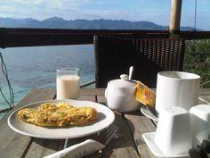 Breakfast @ Beach House Hotel, Gili Trawangan Lombok