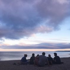 Purple skies and pals are the best (these aren't my pals they're a group of strangers but they were looking more photogenic than my pals at the time)