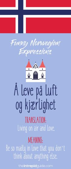 Norwegian Sayings and Idioms - Å leve på luft og kjærlighet Norway Language, Norwegian Words, Learning Tools, Idioms, Foreign Languages, Journaling, Funny Quotes, Hilarious, Make It Yourself