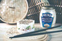 Cómo HACER una Mini SUSHI Cake con Mayonesa Heinz Realmente Deliciosa de manera MUY FÁCIL, con los peques en familia o para algo especial. Es ÑAM!