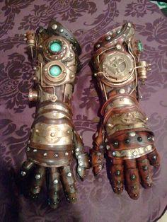 steampunk gauntlet/gloves by Skinz-N-Hydez