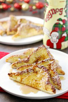 The perfect holiday breakfast! Shamrock Farms Eggnog French toast has just the right amount of cinnamon-nutmeg holiday flavor