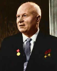 cuban leader Nikita Khrushchev - Former leader of the Soviet Union, most notably at the time of the Cuban missile crisis, later removed by Leonid Brezhnev and his clique Cuban Leader, All Presidents, Santa Sede, Nikki Haley, Peter The Great, History Projects, Communism, Socialism, Child And Child