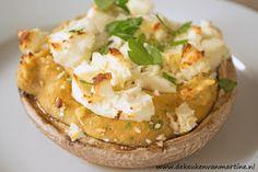 De keuken van Martine: Portobello met humus en feta
