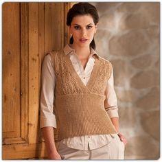 Modell 179/1, Pullunder aus Prinzess® von Junghans-Wolle « Tops & Pullunder « Strickmodelle Junghans-Wolle « Stricken & Häkeln im Junghans-Wolle Creativ-Shop kaufen