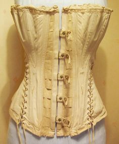 306a1d1836 A later Victorian Maternity Corset owned by Atelier Sylphe Just what every  pregnant woman wants.a corset.