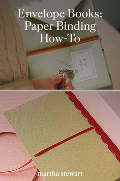 Learn how to make a homemade scrapbook with a few supplies and our step-by-step tutorial for paper binding to create this homemade craft. Plus, it's the perfect handmade holiday gift idea. #marthastewart #crafts #diyideas #easycrafts #tutorials #hobby Homemade Crafts, Easy Crafts, Envelope Book, Gardening Books, Bookbinding, Paper Shopping Bag, Holiday Gifts, Projects To Try, Card Making