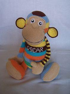Amigurumi Orangutan Pattern : Amigurumi Crochet Pattern - Oscar the Orangutan ...
