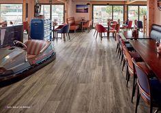 Karndean's Korlok and Opus flooring feature in classic American diner Classic American Diner, Karndean Flooring, American Restaurant, Luxury Vinyl Flooring, Commercial Flooring, Floor Design, Commercial Interiors, Dining Room, Furniture