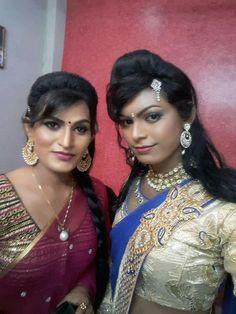 Indian Crossdresser, Transgender Girls, Crossdressers, Sari, Crown, Beauty, Fashion, Saree, Moda