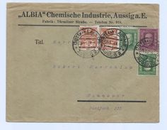 Czechoslovakia 1927 Bussines Cover Ustinad Labem > Hannover Germany