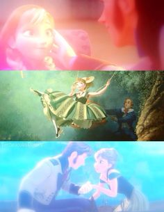 Frozen... that middle pic was a cool part in the movie :) Anna is pro at jumping off couches!!!