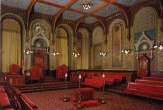 Digital Tour - Grand Lodge of Pennsylvania - Norman Hall in the Romanesque style
