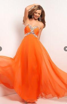 Orange Sweet 16 Dress