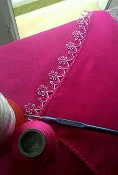 Crochet and Knitting Crochet Edging Patterns, Crochet Borders, Baby Knitting Patterns, Crochet Stitches, Filet Crochet, Crochet Lace, Kutch Work Designs, Saree Kuchu Designs, Lace Making