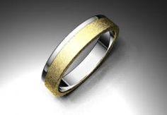 Alianza de oro blanco y amarillo de 18K modelo Diana. #bodas #alinzas #novia | cnavarro.com