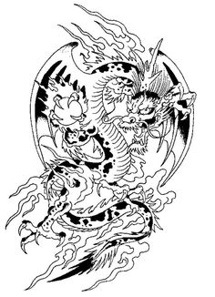 Chinese Fantasy Animal Coloring Page