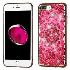 Protect your phone with the most elegant case available. Not Available in stores. Dazzling eye catching floral design  Built-in electroplated metal buttons offe