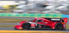 The new gasoline-powered Mazda Prototype was fourth in class during Friday practice for the 2016 Rolex 24 at Daytona International Speedway. (Chris Jasurek/Epoch Times)