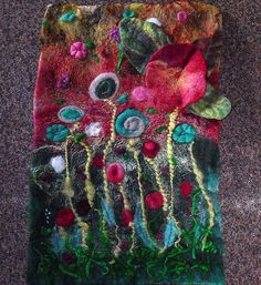 Wet Felt Wall Hanging by FeltingFever, via Flickr