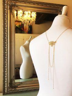 """Collier bijou de dos mariage """"Manon"""" : Collier par les-bijoux-d-aki"""