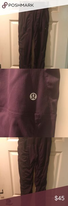 "Brand new Lululemon Dance pants New Lululemon Dance Studio Pant III size 2, just purchased Feb 2018, color is black cherry color (lined 32"") does not have tags but has not been worn, only tried on..very cute ;) lululemon athletica Pants Leggings"