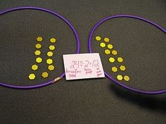 Introduce division with hula hoops and manipulatives. Great blog for lesson plan…