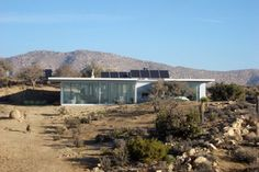 Off Grid Modern Solar House in California Not tiny at 1200 sq. ft, but totally off grid!