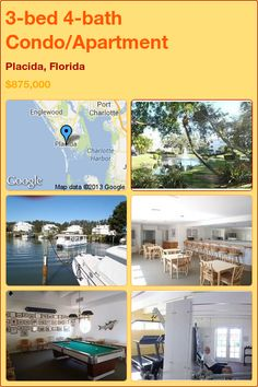 3-bed 4-bath Condo/Apartment in Placida, Florida ►$875,000 #PropertyForSale #RealEstate #Florida http://florida-magic.com/properties/9378-condo-apartment-for-sale-in-placida-florida-with-3-bedroom-4-bathroom