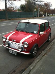 Red Mini Cooper - My dream car what I hopefully will have one day if I ever learn to drive