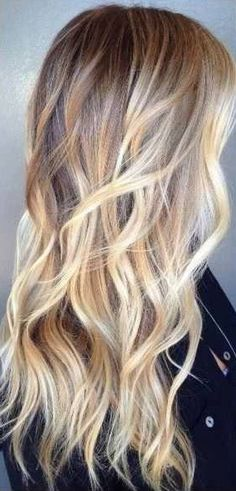 Soft golden Balayage