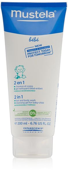 Mustela 2-in-1 Hair and Body Wash, 6.76 Ounce -- You can find more details by visiting the image link.