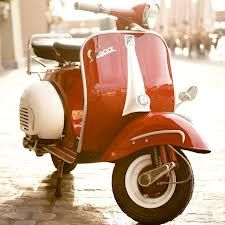 Classic Vespa - missing my post office red Vespa 1973