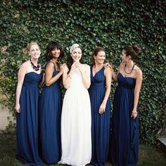 Abiti blu per damigelle #matrimonio #wedding