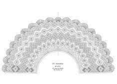 Resultado de imagen de bobbin lace fan pattern Bobbin Lace Patterns, Sewing Patterns, Bobbin Lacemaking, Crochet Collar, Lace Heart, Lace Jewelry, Lace Making, Diy Clothes, Lace Detail