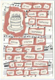 Unhappy Birthday lyrics, The Smiths.