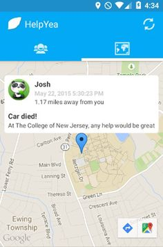 Fret not! HelpYea is here. HelpYea is a community-based assistance app that allows anyone in need to receive help from people nearby. With Google Map that detects the exact location of all the users near you and a chat system that let you keep in touch with the person in need.