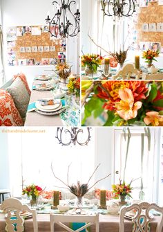 A beautiful fun table decorated for fall from The Handmade Home.