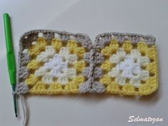 ELİMDEN GELENLER: İplik Koparmadan Motif Birleştirme Crochet Coat, Crochet Motif, Cross Stitch Flowers, Knitting Stitches, Pot Holders, Blanket, Pattern, Antalya, Crocheted Afghans