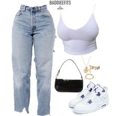 Cute Lazy Outfits, Swag Outfits For Girls, Cute Swag Outfits, Teenager Outfits, Teen Fashion Outfits, Retro Outfits, Mode Outfits, Girl Outfits, Baddie Outfits Casual