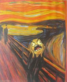 Scream Parody, Scream Art, Creative Pictures, Cool Pictures, Le Cri Munch, Edvard Munch, Psychedelic Art, Installation Art, Caricature