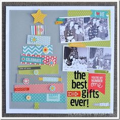 #papercrafting #scrapbook #layout idea: wendysue_nontraditional_christmas_layout