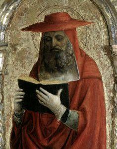 Foppa, Vincenzo (c.1430-c.1515) Fornari Polyptych - Detail of Saint Jerome