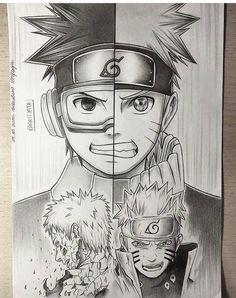 Desenho Obito Uchiha e Naruto Uzumaki Naruto Shippuden Sasuke, Anime Naruto, Fan Art Naruto, Manga Anime, Art Anime, Itachi, Boruto, Konoha Naruto, Naruto Drawings